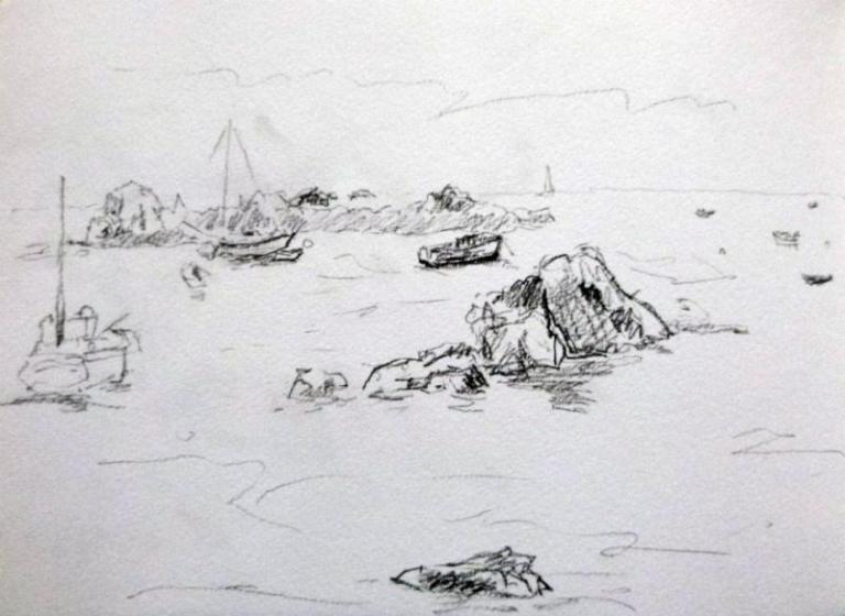 Bretagne    Cotes d'Armor  graphite 20:30 cm