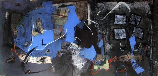 140/300 cm  technique mixte sur papier marouflé sur toile