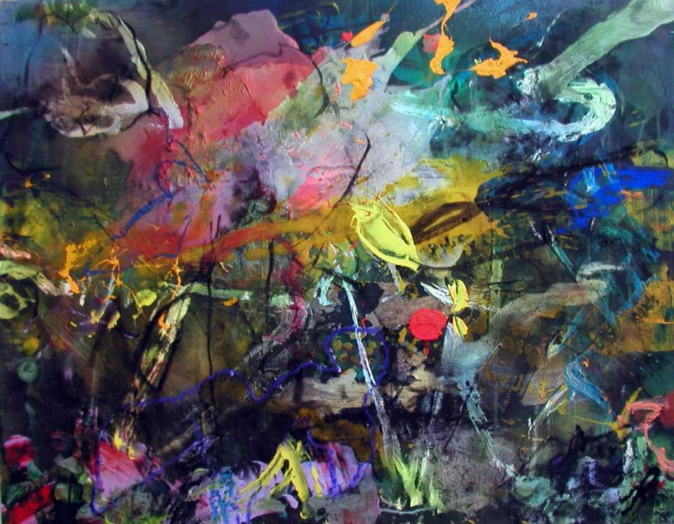 acrylique sur papier 50/65 cm 2004