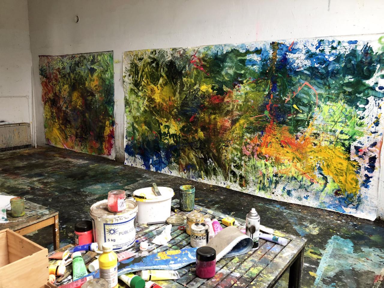 atelier peintures en cours  mars 2018