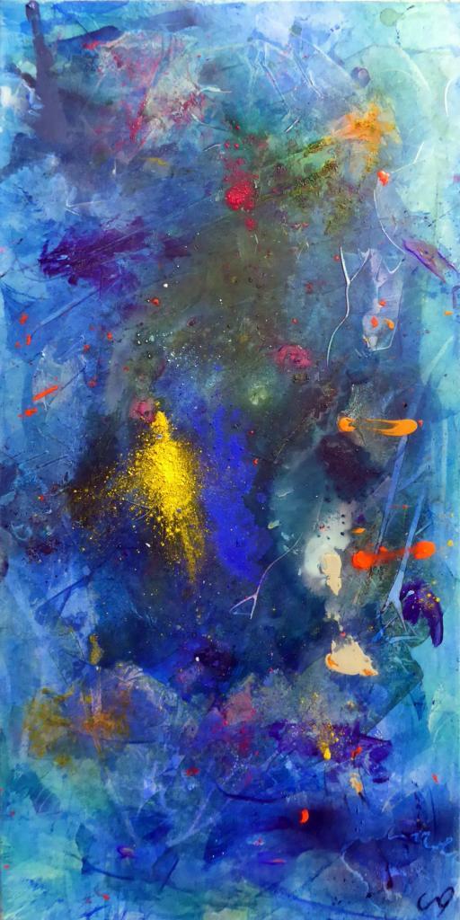 les poissons jaunes 2, 100/50 cm