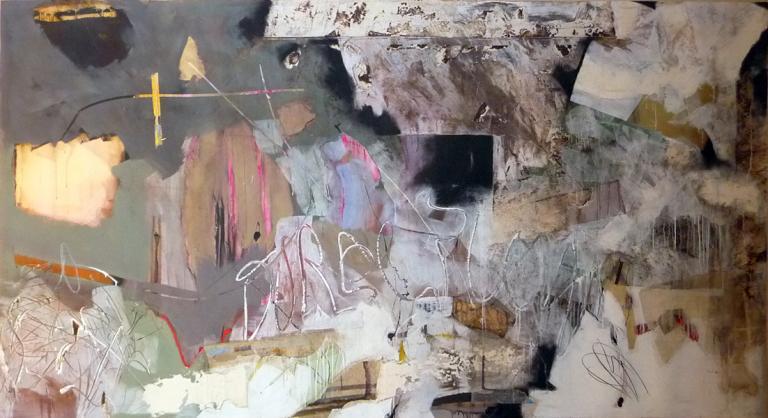 140-300 cm  technique mixte sur papier marouflé sur toile