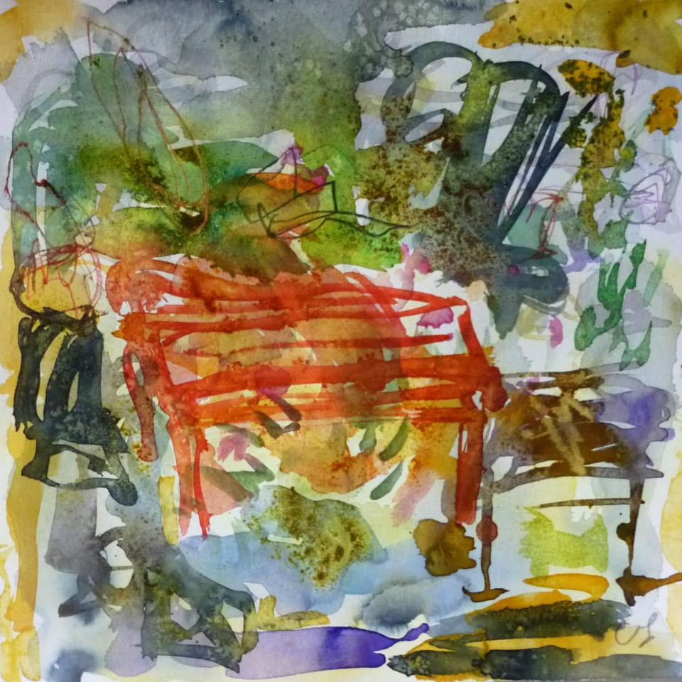 Piano 7 peinture sur papier 2014 30:30 cm