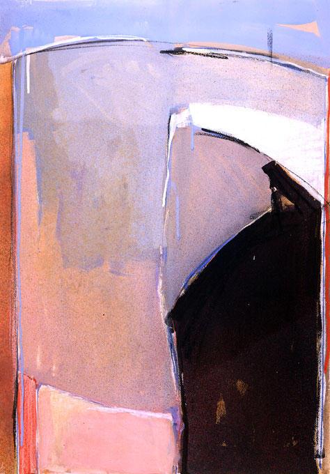 saint-louis-blues Gouache etc. sur papier  80/120 cm