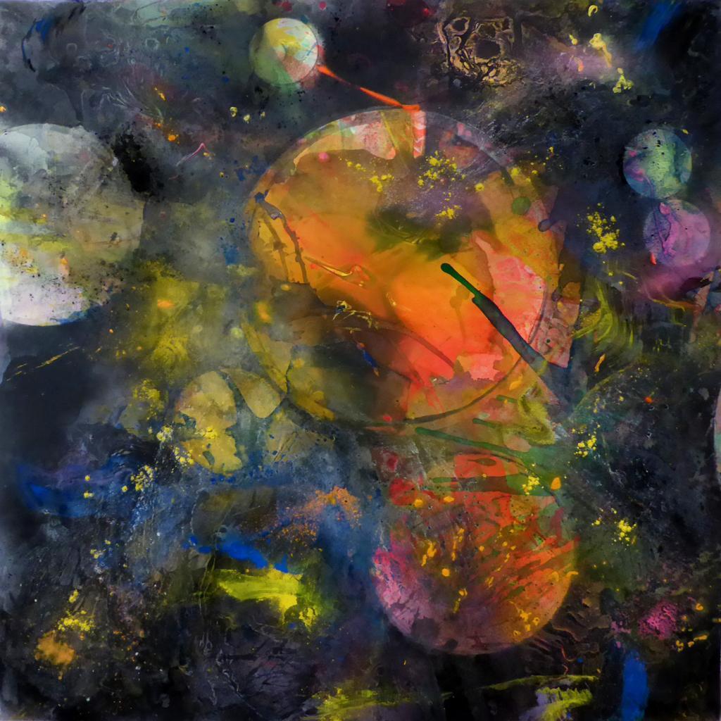 Star wars 1, Technique mixte sur toile 100/100 cm