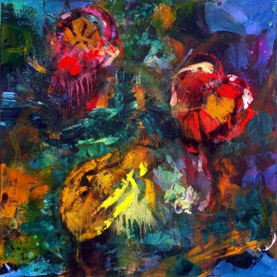 100-100 2006 1  technique mixte sur toile 100/100 cm