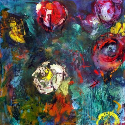 100-100 2006 4  technique mixte sur toile 100/100 cm