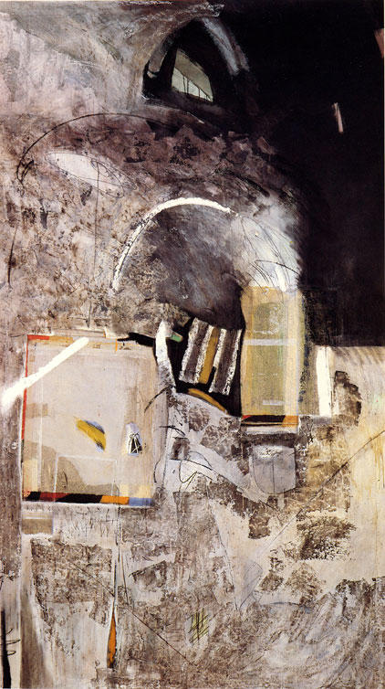 140-220 cm  technique mixte sur papier marouflé sur toile