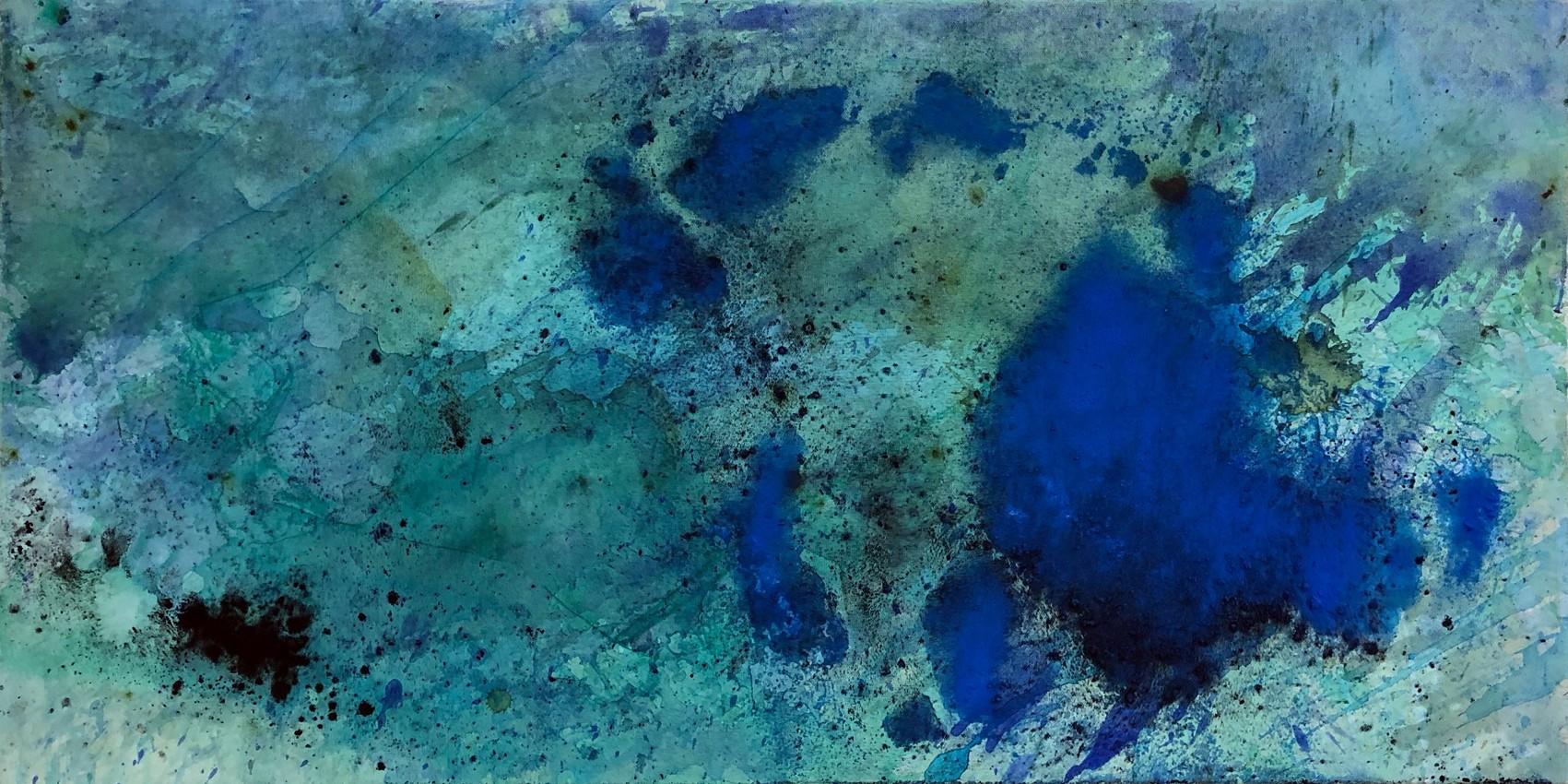 Blue in green  50/150 cm