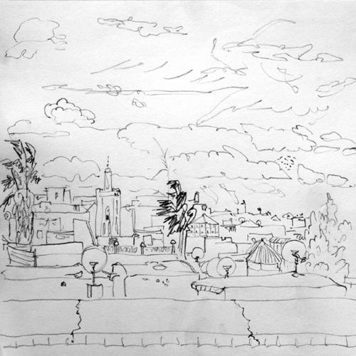 dessin-de-marrakech-