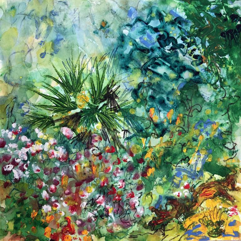 Jardin de juin 2 30/30 cm