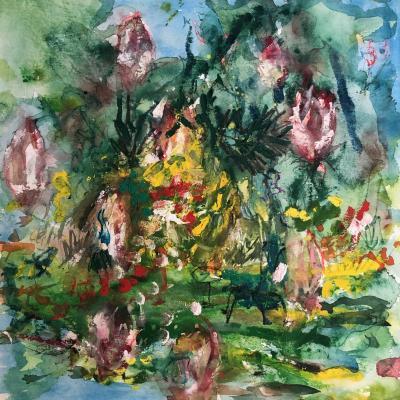 Jardin de juin 4  30/30 cm