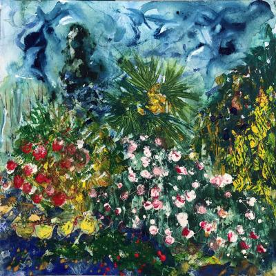Jardin10 juin 1  30/30 cm sur papier