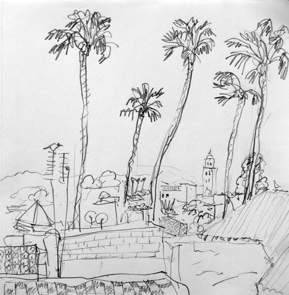 koutoubia-et-palmiers