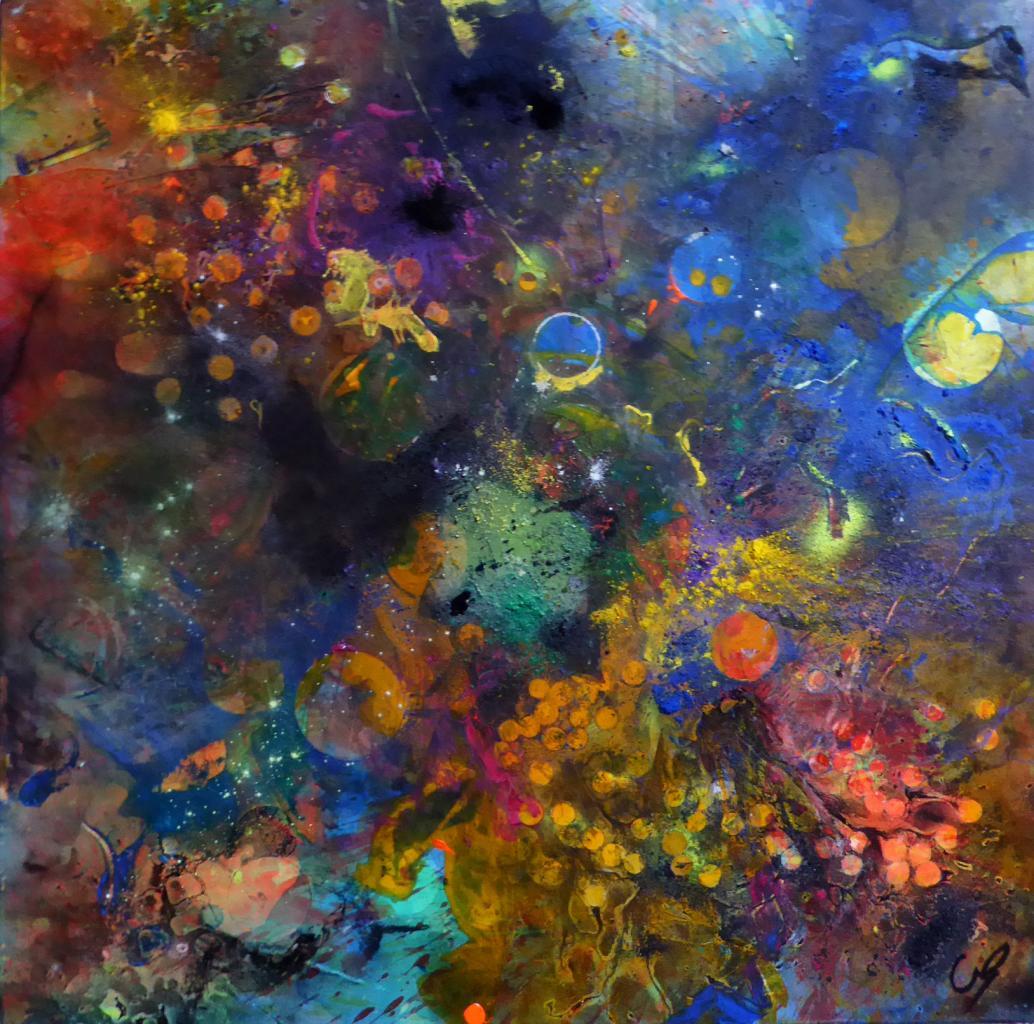 Les cepheides, Technique mixte sur toile 100/100 cm
