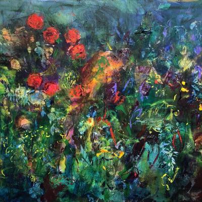 Les roses dans la canopée   114/146 cm