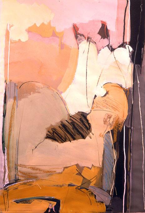 passion-dance Gouache etc. sur papier  80/120 cm