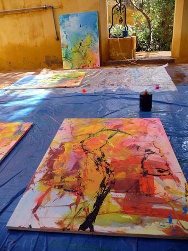 peintures en cours marrakech