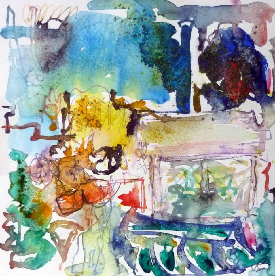 Piano 8 peinture sur papier 2014 30:30 cm