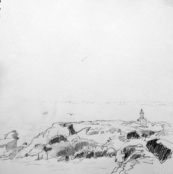 Belle-Ile   mine de plomb 30/30 cm