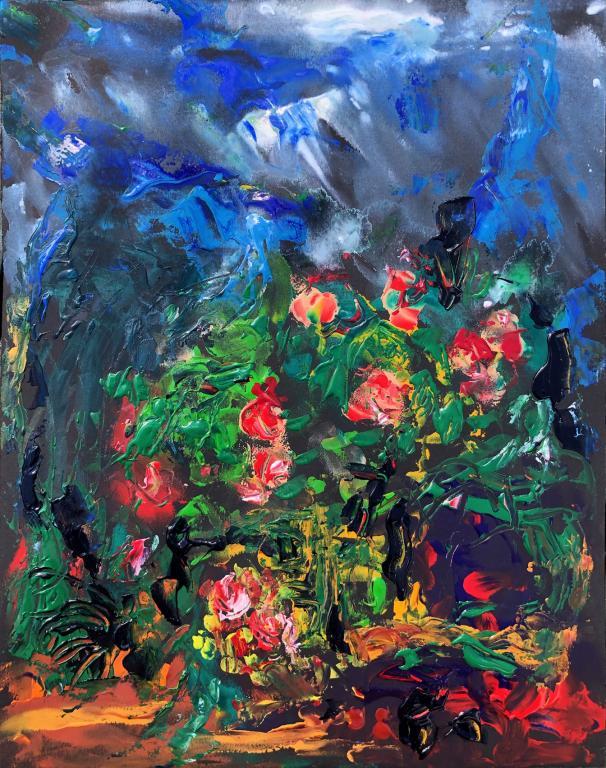 rose du jardin 1  32/25 cm