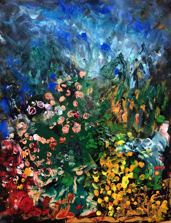 roses du jardin 3  32/25 cm