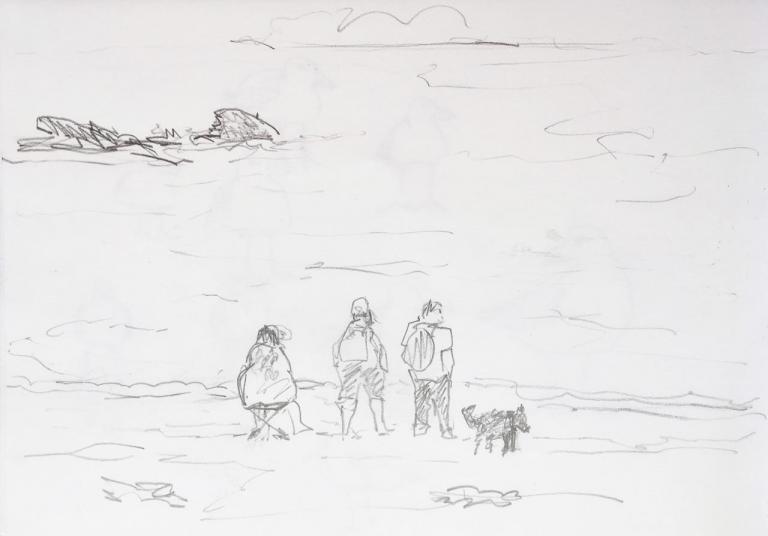 trois hommes et un canin